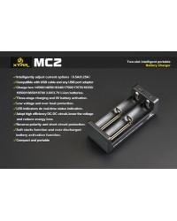 Xtar MC2 διπλός φορτιστής μπαταριών